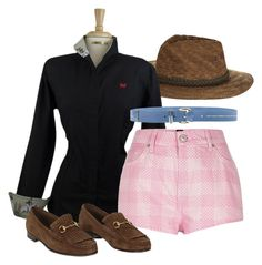 """""""Blue Belt"""" by stylemyride ❤ liked on Polyvore featuring Billabong, Pepe Jeans London and Gucci"""