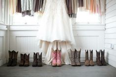 Country wedding. Boots