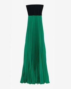 intermix online emerald pleated dress