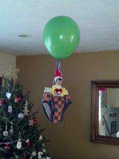Elf on a Shelf - flying!
