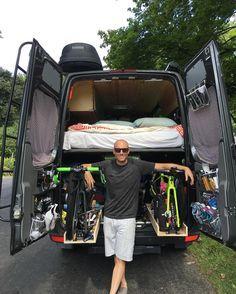 slide out bike trays, shoes on back door in garage.