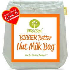"""Pro Quality Nut Milk Bag - Big 12""""X12"""" Commercial Grade - Reusable Almond Milk Bag & All Purpose Food Strainer - Fine Mesh Nylon Cheesecloth & Cold Brew Coffee Filter - Free Recipes & Videos (1)"""