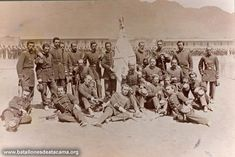 Oficialidad del Batallòn Coquimbo, en Antofagasta Officers, of the Coquimbo Battalion, Antofagasta. War Of The Pacific, Statue, Bolivia, Painting, Paradise, Age, Books, Old Photography, Historical Photos