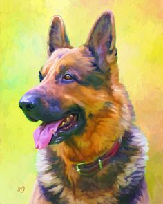 German Shepherd Art Print 8x10  German Shepherd by ScottieInspired, $12.50