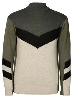 7905a7838fc ARROW HAIRY INTARSIA KNITTED PULLOVER