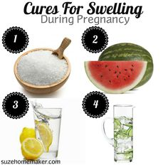 Cures for swelling during pregnancy.