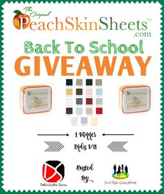 PeachSkinSheets.com Back To School Giveaway!