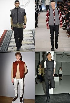 Men's Gilets and Body Warmers On The AW16 London Collections Men Runways
