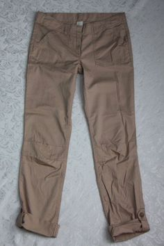 Crewcuts by J. Crew girls 14 tan capri cropped pants adjustable waist summer EUC #Crewcuts Check out my other items for sale here! http://www.ebay.com/sch/alittlecupcake/m.html