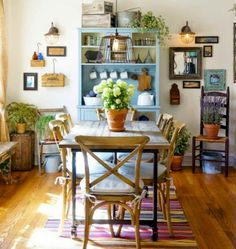 Stunning And Classic Farmhouse Dining Room Design Ideas For Your Inspiration - Page 20 of 78 - Cute Hostess For Modern Women City Apartment, Cozy Apartment Decor, Diy Zimmer, Bohemian Interior Design, Rustic Room, Dining Room Lighting, Beautiful Living Rooms, Small Dining, Dining Room Design