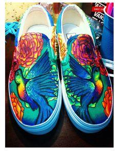 Hummingbird custom shoes