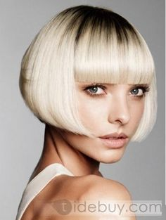 blond hair bob for fags like me Blunt Bob Hairstyles, Inverted Bob Hairstyles, Hairstyle Short, School Hairstyles, Trendy Hairstyles, Short Hair Cuts, Short Hair Styles, Ombre Wigs, Hair Styles 2014
