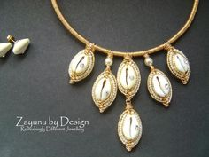 And this would have been my earrings and necklace Cowrie Shell Necklace, Shell Choker, Shell Earrings, Shell Necklaces, Beaded Earrings, Bead Embroidery Jewelry, Beaded Jewelry Patterns, Fabric Jewelry, Seashell Jewelry