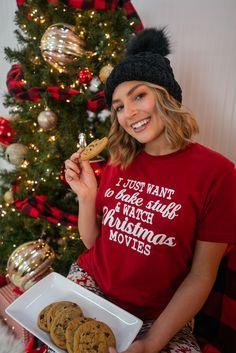 Xmas Pajamas For Her Xmas Movies, Movie Tees, Holiday Pajamas, Christmas Morning, Christmas Sweaters, Comfy, Fashion, Moda, Fashion Styles