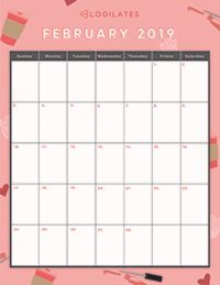 Blogilates Calendar February 2019 THE LEGIT CUTEST 2019 Printable Calendars | Crafts | Blogilates
