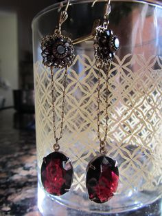 Love her upcycled vintage jewelry <3