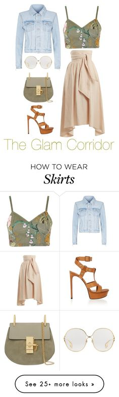 """Bohemian Glam"" by theglamcorridor on Polyvore featuring Apiece Apart, Topshop, Off-White, Yves Saint Laurent, Chloé and Gucci"