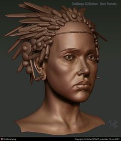 Chamane - Wip - by Michel ROGER | 3D | CGSociety