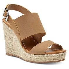 Must have summer sandals - LOVE these tan Women's dv Ella Espadrille sandals at Target