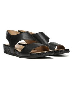 Another great find on #zulily! Black Yessica Leather Sandal by Naturalizer #zulilyfinds