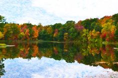 I uploaded new artwork to fineartamerica.com! - 'Autumn With Colorful Foliage And Water Reflection 6' - http://fineartamerica.com/featured/autumn-with-colorful-foliage-and-water-reflection-6-lanjee-chee.html via @fineartamerica