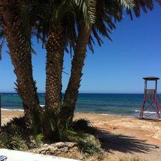 Beach in Stalida Crete Greece