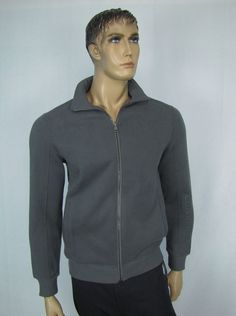 Calvin Klein Sweater Men's Grey Full Zip Fleece Sweater Size S NEW #CalvinKlein #FullZip 42.99