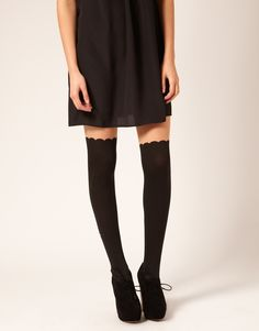 Glassons - Overknee Scallop Tights