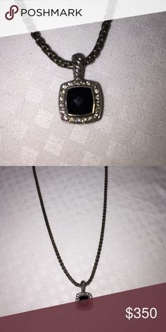 David Yurman necklace David Yurman black oynx petite Albion pendant necklace in good condition David Yurman Jewelry Necklaces