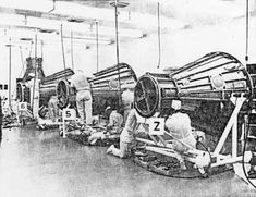 Manufacture of Mercury spacecraft at McDonnell plant, St. Louis, Mo