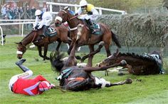 How many more horses have to die each year so some people can make a bit of money?  Two at this race (on average).  High time the Grand National was banned in its current form.