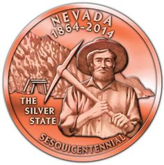 New Nevada sesquicentennial coin comes off 1869 press #nv150
