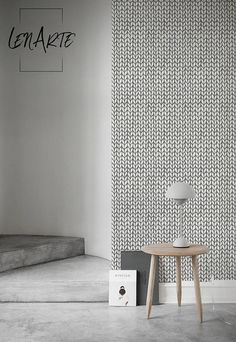 Knit Herringbone Wallpaper - Home design - Removable Wallpaper - Wall Decal - Wall covering - Wall Mural - Modern Pattern - Reusable - 45