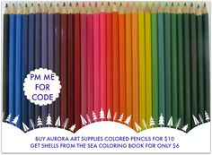colored pencils! Get a set of 48 Aurora colored pencils for only $10! http://aurora-artsupplies.com