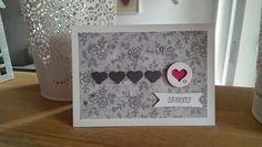 Kreativ mit Stempel und Papier: Hochzeitskarte