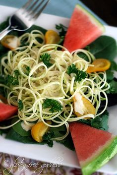 Raw Zucchini Pasta with Curry Cashew Cream
