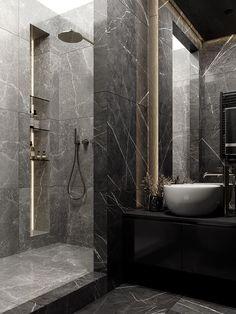 Washroom Design, Bathroom Design Luxury, Modern Bathroom Design, Modern Design, Home Room Design, Dream Home Design, Home Interior Design, House Design, Dream Bathrooms