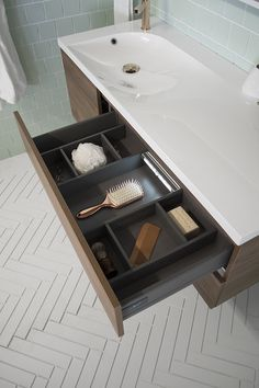 Saber Vanity Drawer Interior With DarkNight LED Drawer Light And Drawer  Dividers | Architectural Designer Products