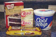 yummy red velvet poke cake recipe | kojodesigns