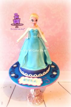 ELSA - Frozen Themed Doll Cake for Kyla - Cake by Violet - The Violet Cake Shop