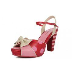 On my Wish list: Polka dot and striped Lola Ramona shoes #pink #polkadots