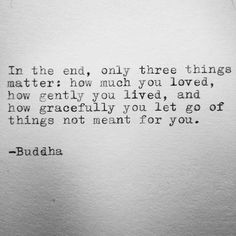 Oh Buddha if only it were THAT easy