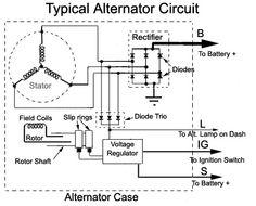Typical externally regulated alternator Wiring