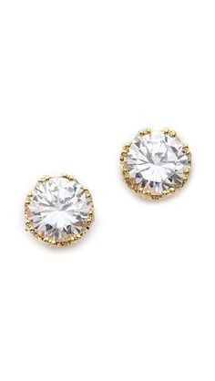 round gold cz studs // perfect for travel