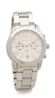 Michael Kors Silver Mercer Watch