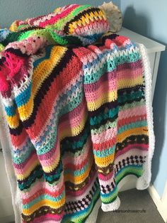 Striped Crochet Blanket, So Much Love, Color Theory, Happy Friday, Healing, Creative, Colors, Projects, Crocheting