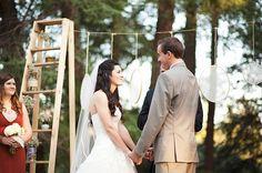 21 Unique Ceremony Ideas for Your Wedding (via Emmaline Bride) - lace ceremony decor by The Papery Nook