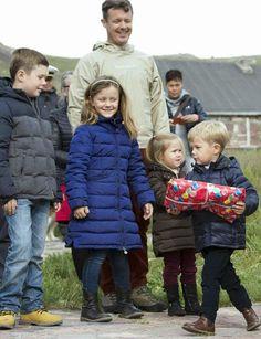 MYROYALSHOLLYWOOD FASHİON:  Danish Crown Princely Family visit Greenland, August 1, 2014-Prince Christian, Princess Isabella, Crown Prince Frederik, Princess Josephine, Prince Vincent
