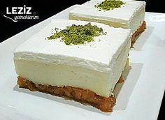 Damlasakızlı Etimek Tatlısı Turkish Sweets, Sprinkles Recipe, Gula, Fish And Meat, Small Cake, Great Desserts, Turkish Recipes, Cheesecake, Deserts