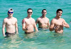 Each spring the Dean of The Citadel's School of Business teaches a course on the Cuban economy, which includes a trip to Havana over Spring Break.  Here are four cadets enjoying the beach their first weekend in Cuba.  Kenny Gonzalez, second from right, is actually Cuban (he and his parents immigrated to the US when he was six) and they spent one day at his village where his family (grandparents, aunts, uncles, cousins) put on a spectacular pig picking.  His dad even flew in to join them!